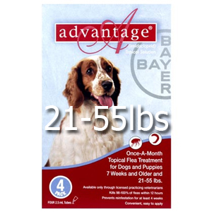 Advantage Topical Solution Dog Red 21-55 lbs