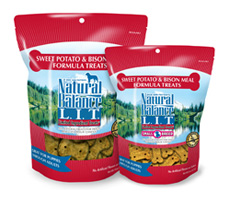 Natural Balance L.I.T. Sweet Potato & Bison Dog Treats- Grain Free