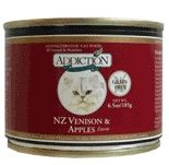 Addiction NZ Venison & Apples Canned Cat Food- Grain Free