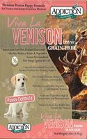 Addiction Viva La Venison Puppy Dry Dog Food- Grain Free
