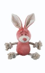 Bamboo Plush Pink Bunny Rope Toy
