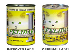 Felidae Chicken & Rice Cat/Kitten Canned Food (Case of 12)