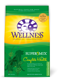 Wellness Lamb, Barley & Salmon Super 5 Mix Dry Dog Food