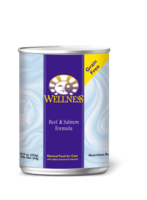 Wellness Beef & Salmon Canned Cat Food- GRAIN FREE