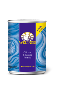 Wellness Chicken & Herring Canned Cat Food- GRAIN FREE