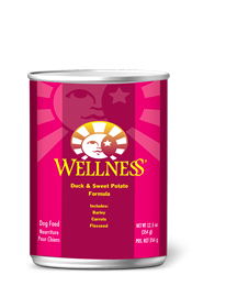 Wellness Duck & Sweet Potato Super 5 Mix Canned Dog Food